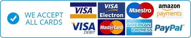 We accept All These Payment Options