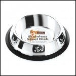 Fed 'N' Watered Stainless Steel Pyramid Embossed Non Tip Cat Dish