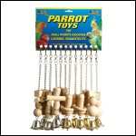ALB-39C LARGE PARROT TOYS CARD.