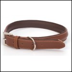 LB-032 DOG COLLAR BROWN 45cm/18