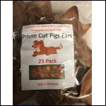 Pig Ears for dogs cut 25 pack - Pet Supply Uk