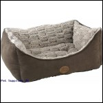 Novara Rectangle Bed, 36-inch, Brown  by SNUG AND COSY