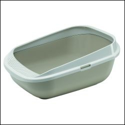 Comfy Step Open Litter Tray Warm Grey