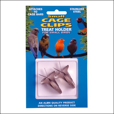 ALB-108B 2 SMALL CAGE CLIPS B/ PACK