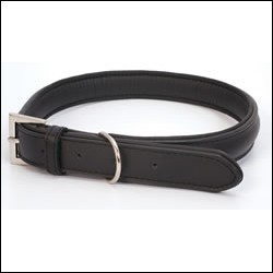 LB-025 BLACK DOG COLLAR 70cm/28