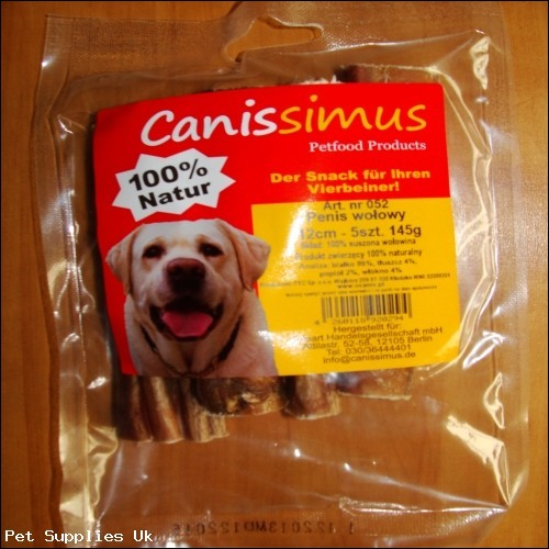 O' Canis Canissimus beef penis (12 cm) 50pk