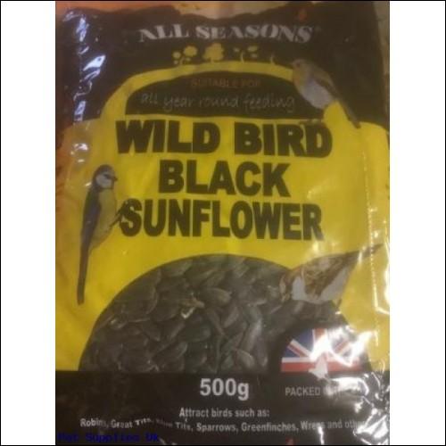 All Seasons Wild Bird Black Sunflower seeds 500g case of 18